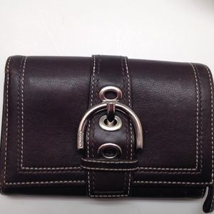 COACH VINTAGE SOHO BROWN LEATHER WALLET